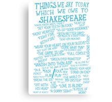Things We Say... Canvas Print