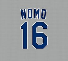 Hideo Nomo Dodgers Jersey Cover by BeinkVin