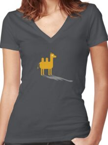 Baby Camel Women's Fitted V-Neck T-Shirt