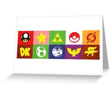 N64 Smash Bros Emblems Greeting Card