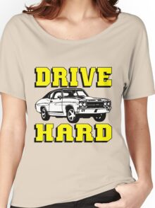 MUSCLE CAR-DRIVE HARD Women's Relaxed Fit T-Shirt