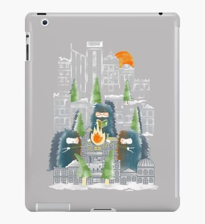 Camping in the City iPad Case/Skin
