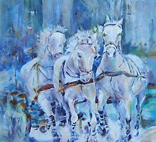Horses Stepping Out - Art Gallery 29 by Ballet Dance-Artist
