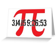 Happy Pi Day 2015 'Pi Logo and 3.14.15 9:26:53' Collector's Edition T-Shirt and Gifts Greeting Card