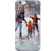 Ice Skating At Hampton Court Palace London iPhone Case/Skin