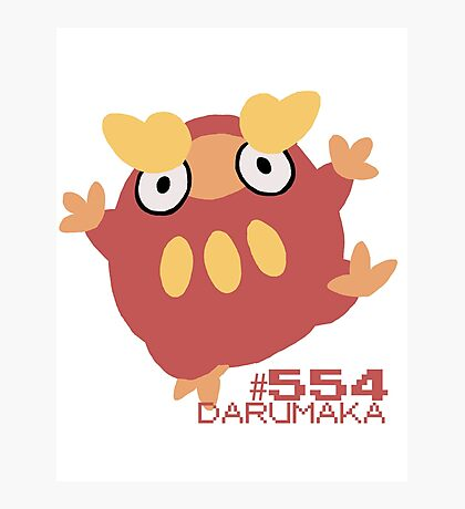 DARUMAKA! POKEMON! Photographic Print