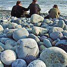 Beach pebbles, Miraflores by Elaine Stevenson