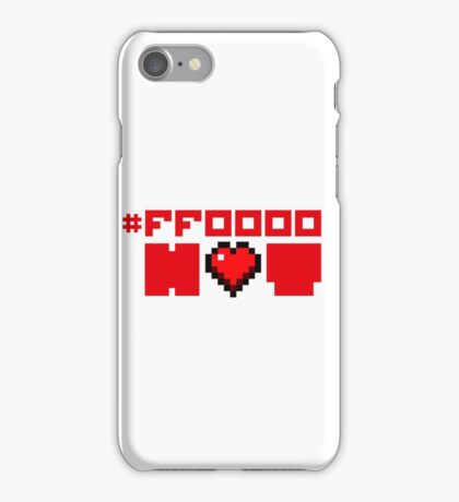 Red Hot Love for Geeks iPhone Case/Skin