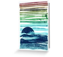 sea landscape Greeting Card