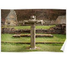 Mount Grace Priory. Virgin on the Cross. Poster