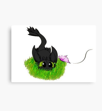 Baby Toothless Canvas Print
