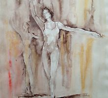 En Pointe – Ballet Painting by Ballet Dance-Artist