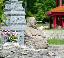 laughing buddha by Roslyn Lunetta