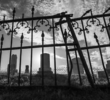 Small Cemetery Through an Iron Fence by Joseph Donley