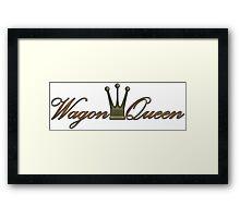 Wagon Queen Framed Print
