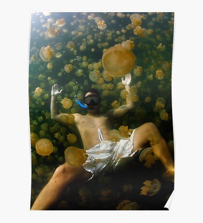 Jellyfish Waterbed Poster
