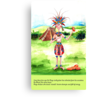 1-The Maya Indian and cocoa drink Canvas Print
