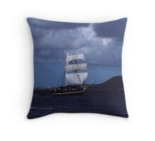 Tall Ship in the BVI Throw Pillow
