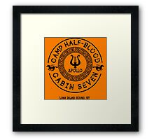 Percy Jackson - Camp Half-Blood - Cabin Seven - Apollo Framed Print