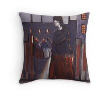 Mill workers Throw Pillow