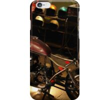 bike in the garage under construction iPhone Case/Skin