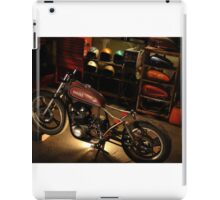 bike in the garage under construction iPad Case/Skin