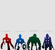 Avengers Silhouettes  by Dyzce
