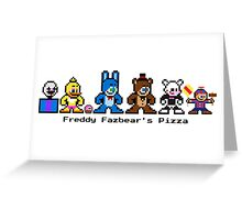 8-BIT FREDDY FAZBEAR'S PIZZA (FNAF2) Greeting Card