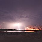Lightning over Duck Lake by Mary Jane Foster