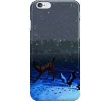 The Snowman's Visitors iPhone Case/Skin