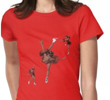 Skatin' Womens Fitted T-Shirt