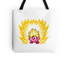 Pixel Super Saiyan Kirby Tote Bag