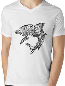Shark_bite Mens V-Neck T-Shirt