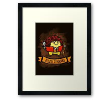 Bouncy Bilbo Framed Print