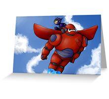 Big Hero 6 flight Greeting Card
