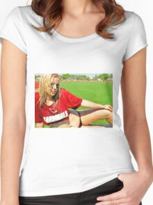 Sideline Timeout Women's Fitted Scoop T-Shirt