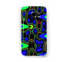 Psychedelic Cells in Blue and Green Samsung Galaxy Case/Skin