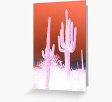 Electric desert Greeting Card