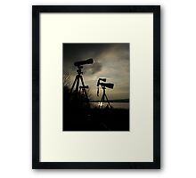 Holding Back Framed Print