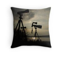 Holding Back Throw Pillow