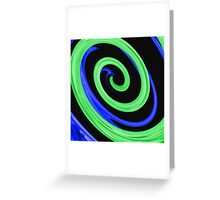 Twirl-a-whirl Greeting Card