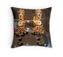 Wine Glass Ear Rings Throw Pillow