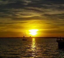 Sailing the Sunset by Mechala Matthews