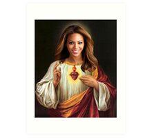 Beyonce Jesus Art Print