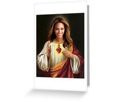 Beyonce Jesus Greeting Card