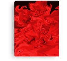 Red Flames Canvas Print