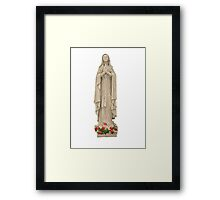 Blessed Mother with Rosary and Roses Framed Print