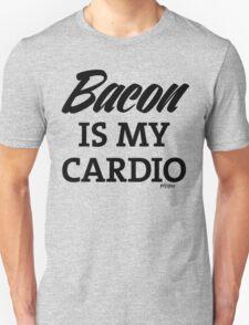 Bacon is my Cardio, black type T-Shirt