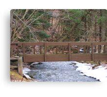 Woodland Trail Bridge Canvas Print