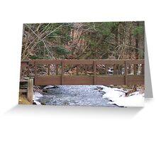 Woodland Trail Bridge Greeting Card